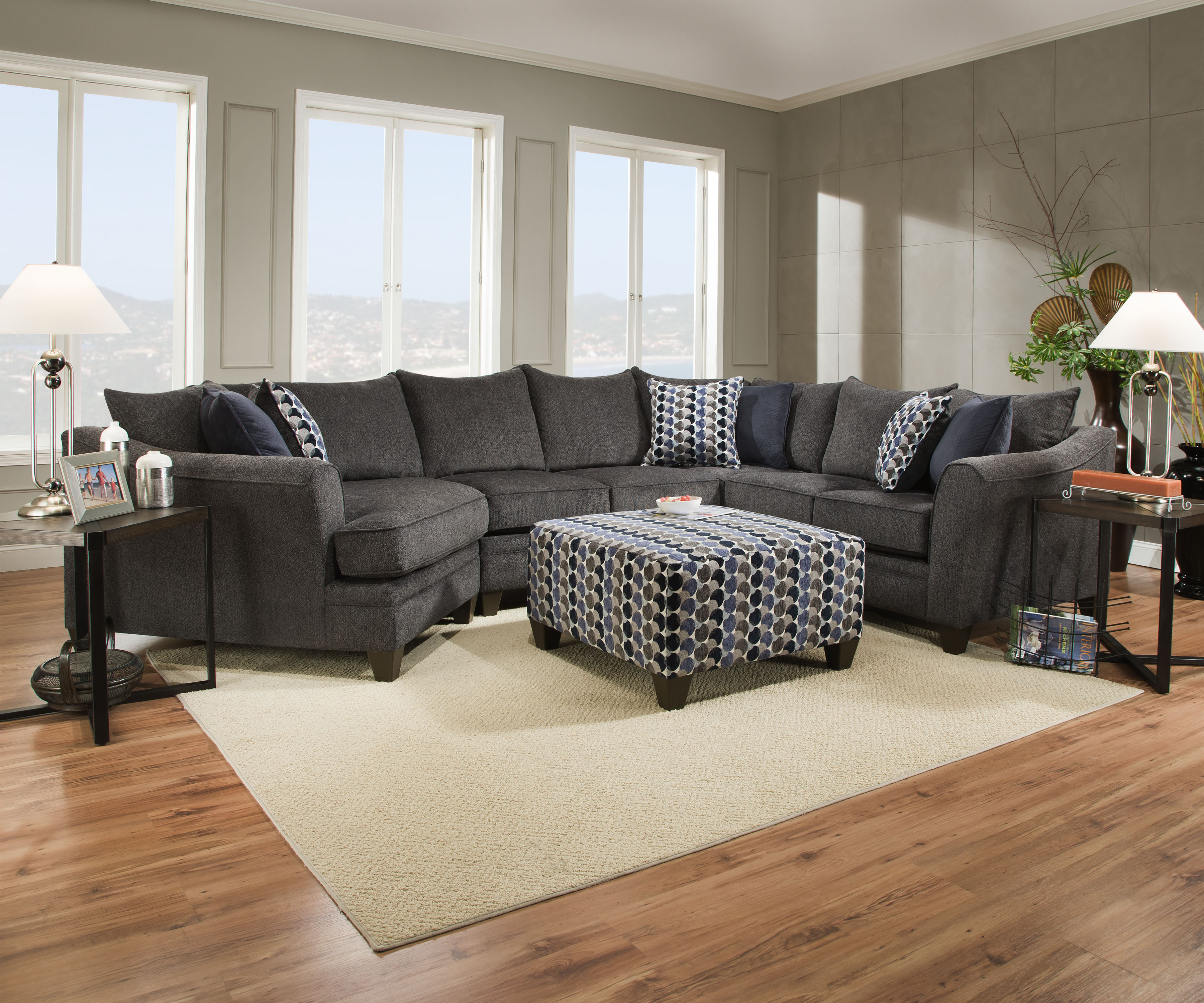 Albany Cuddler Sectional
